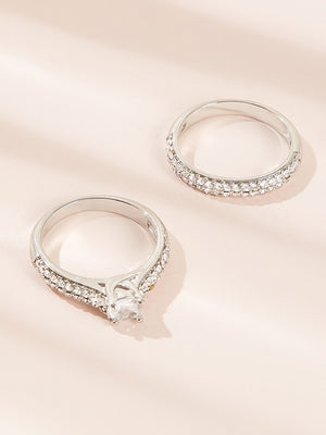 Rhinestone Ring Set - Boutique Michaud LLC