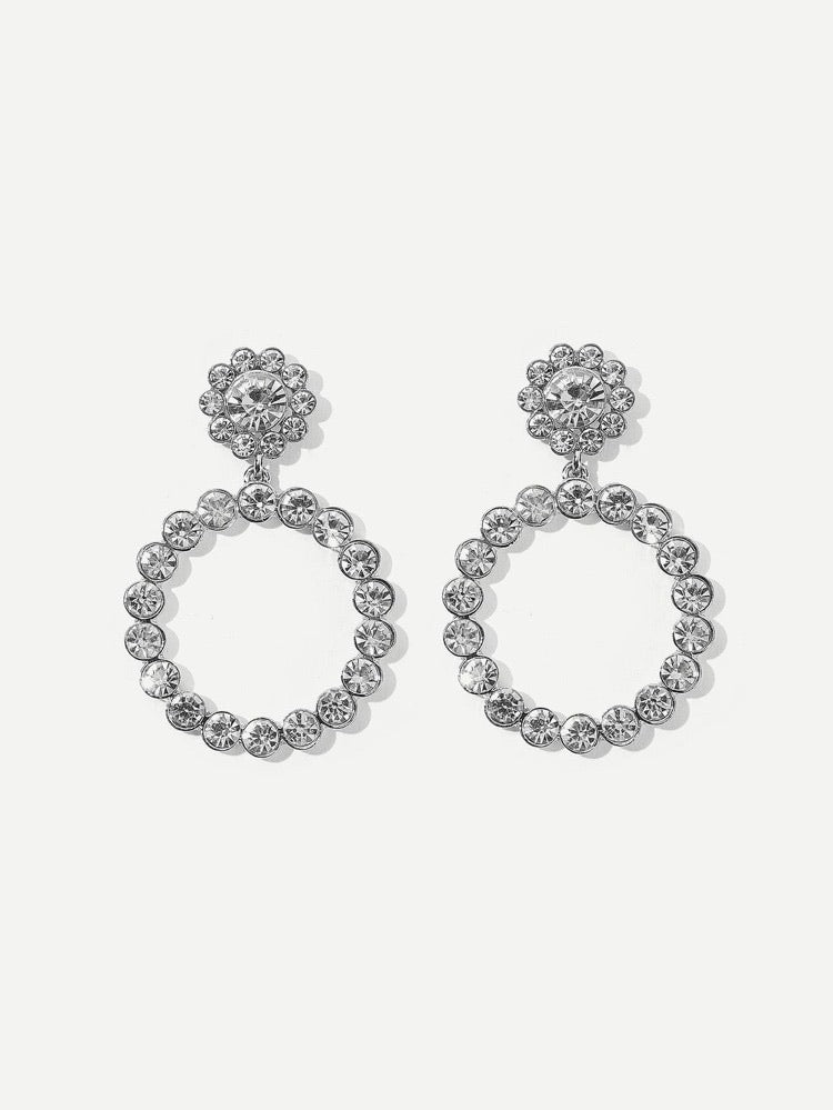 Hoop Drop Earrings - Boutique Michaud LLC