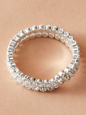 Rhinestone Wide Bracelet - Boutique Michaud LLC
