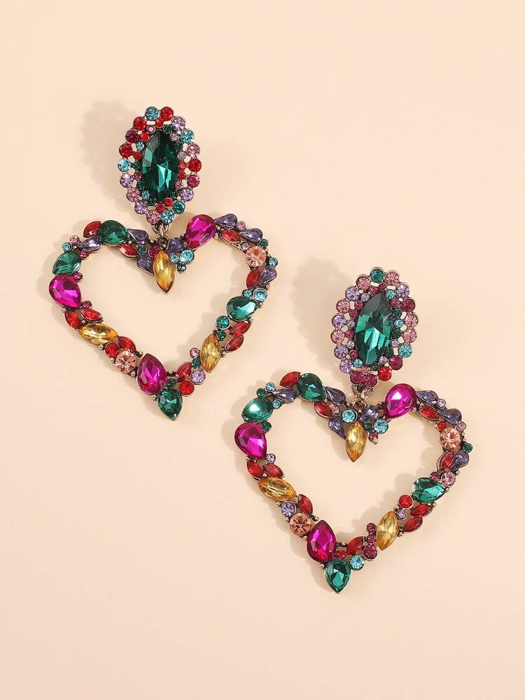 Heart Drop Earrings - Boutique Michaud LLC