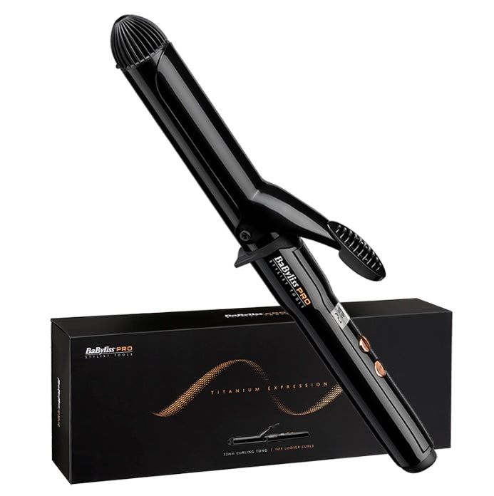 BaByliss PRO Titanium Expression Curling Tong - 32mm