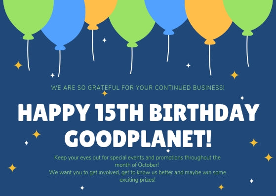 Happy 15th Birthday GoodPlanet!