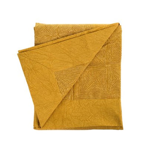 Aari Work Throw Blanket (Gold Spice)