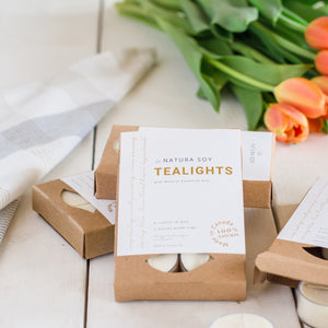 Natura Soy Tealights (Box of 6)
