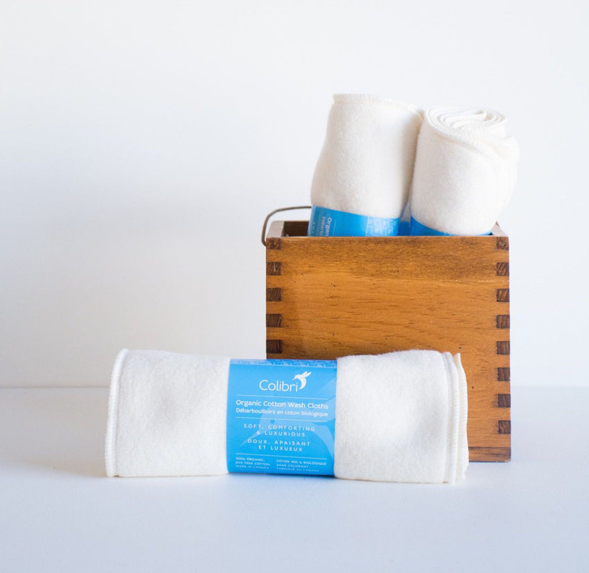Organic Cotton Sherpa Washcloths by Colibri