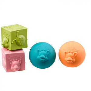 So'Pure 2 balls & 2 cubes set