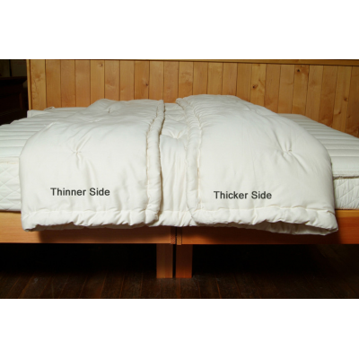 Dual-Weight Wool Comforter by Holy Lamb