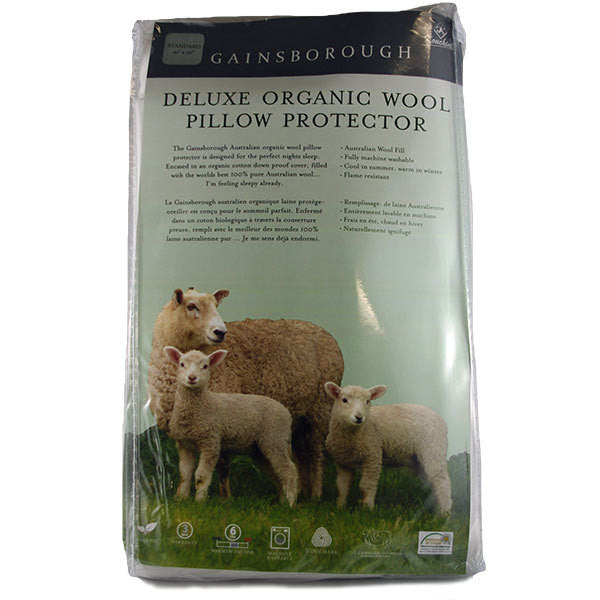 Gainsborough Deluxe Organic Wool Pillow Protector