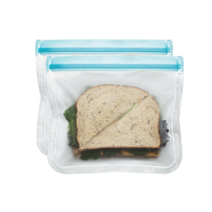 (re)zip Lay-Flat Lunch Size Leakproof Reusable Storage Bag (2-pack)