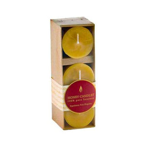 Pack of Three 2 Inch Votive Beeswax Candles