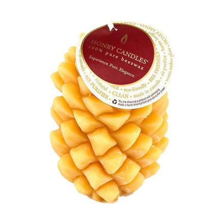 Ponderosa Pine Cone Natural Beeswax Candle