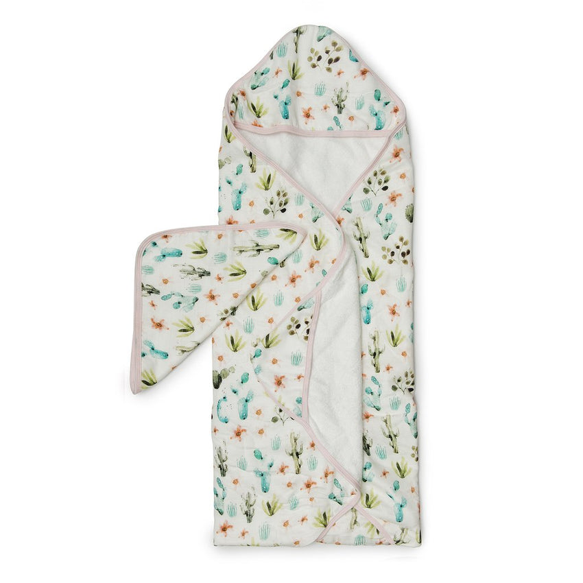 Deluxe Bamboo Muslin Hooded Towel Set