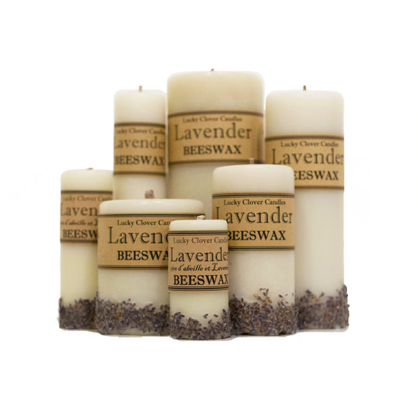 Lucky Clover Beeswax Candles / Lavender