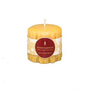 Natural Heritage Drip Pillar Beeswax Candles 3