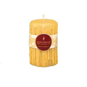 Natural Heritage Drip Pillar Beeswax Candles 5