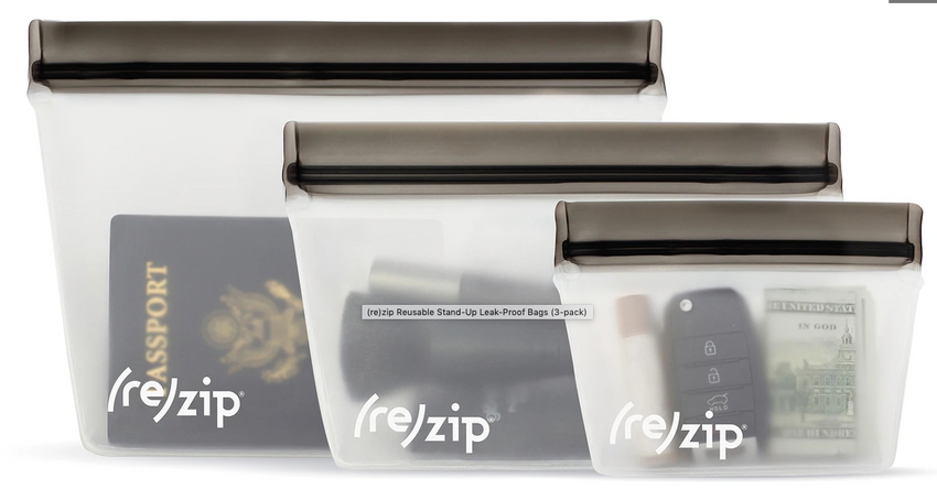 (re)zip Reusable Stand-Up Bags (3-Pack)