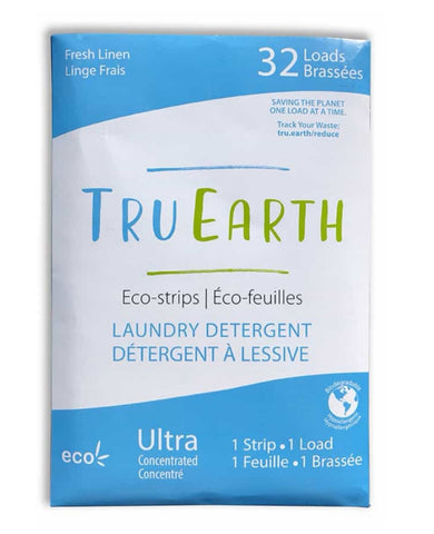 TruEarth Laundry Strips (32 Pack) / Fresh Linen Scent