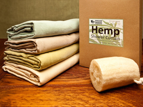 Hemp Shower Curtains (Assorted Colours)