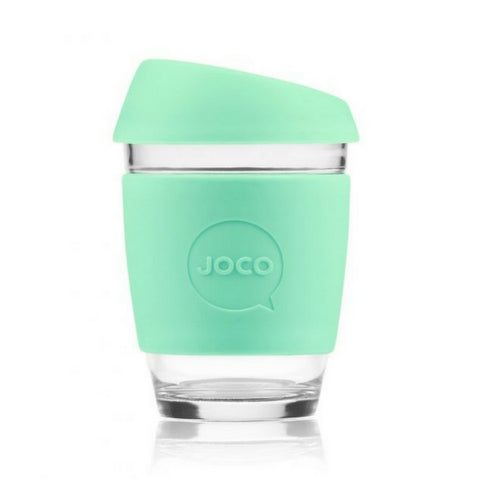 JOCO Reusable Glass Coffee Cup 12oz.