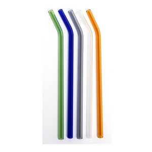 Coloured Glass Straw (Bent 8