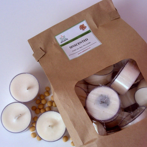 Natura Soy Unscented Tealights (Bag of 25)