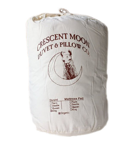 Crescent Moon Organic Alpaca Wool Duvet (Summer Weight)