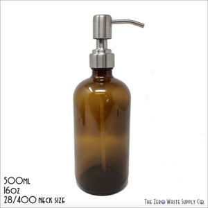 Amber Bottle with Pump Lid