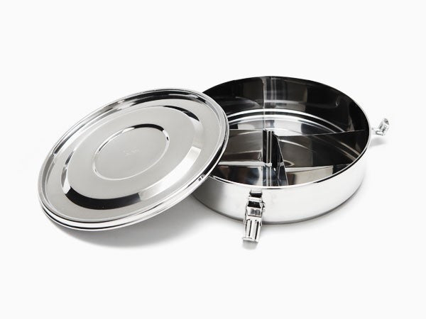 Onyx Stainless Steel Container 18cm with Dividers