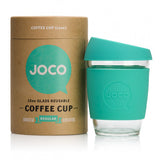 Joco Reusable Glass Coffee Cup 12oz. Mint