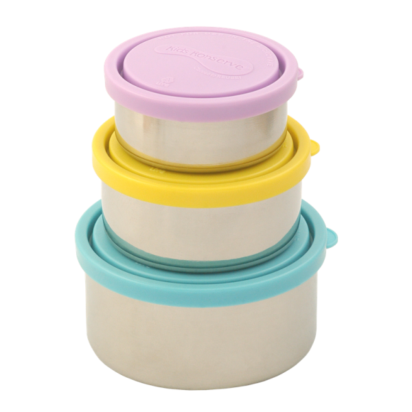 Round Nesting Trio Containers (Set of 3) Sky