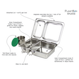 PlanetBox Shuttle Stainless Steel Lunchbox