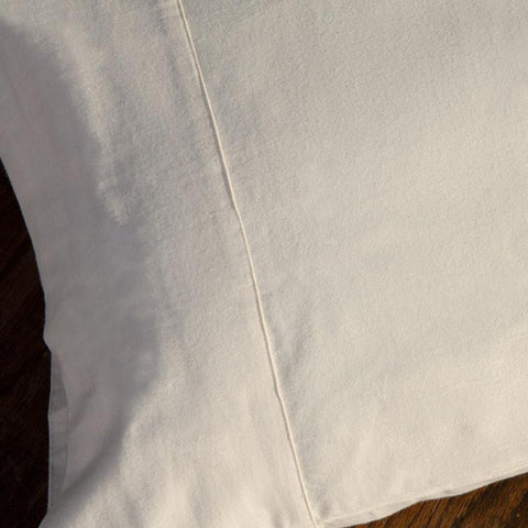 Certified Organic Flannel Pillow case (set of 2)