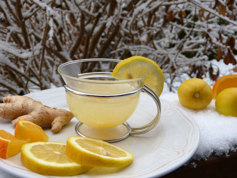 lemon and ginger to help a cold