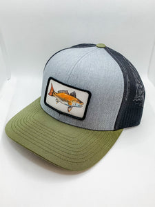Moss and Gray Red Drum hat