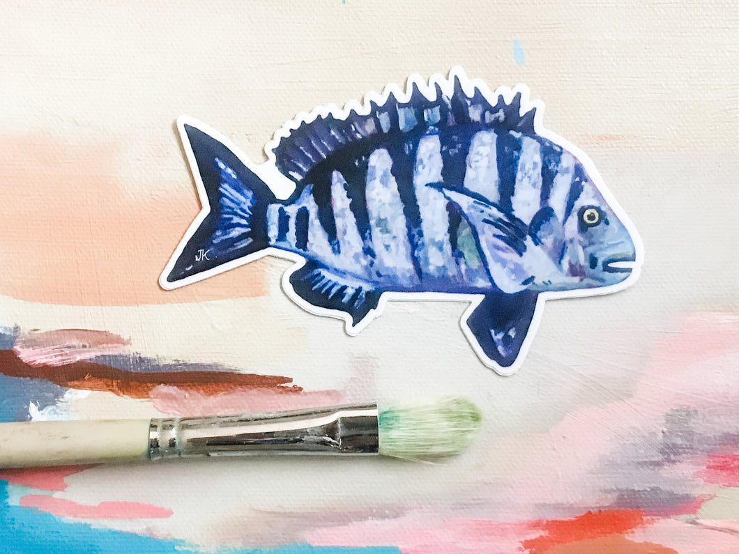 Sheepshead Fish sticker