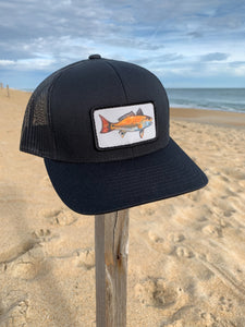 Black Red Drum hat