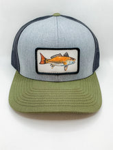 Load image into Gallery viewer, Moss and Gray Red Drum hat