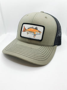 Loden and black red drum hat