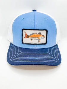 Blue and Navy Red Drum hat