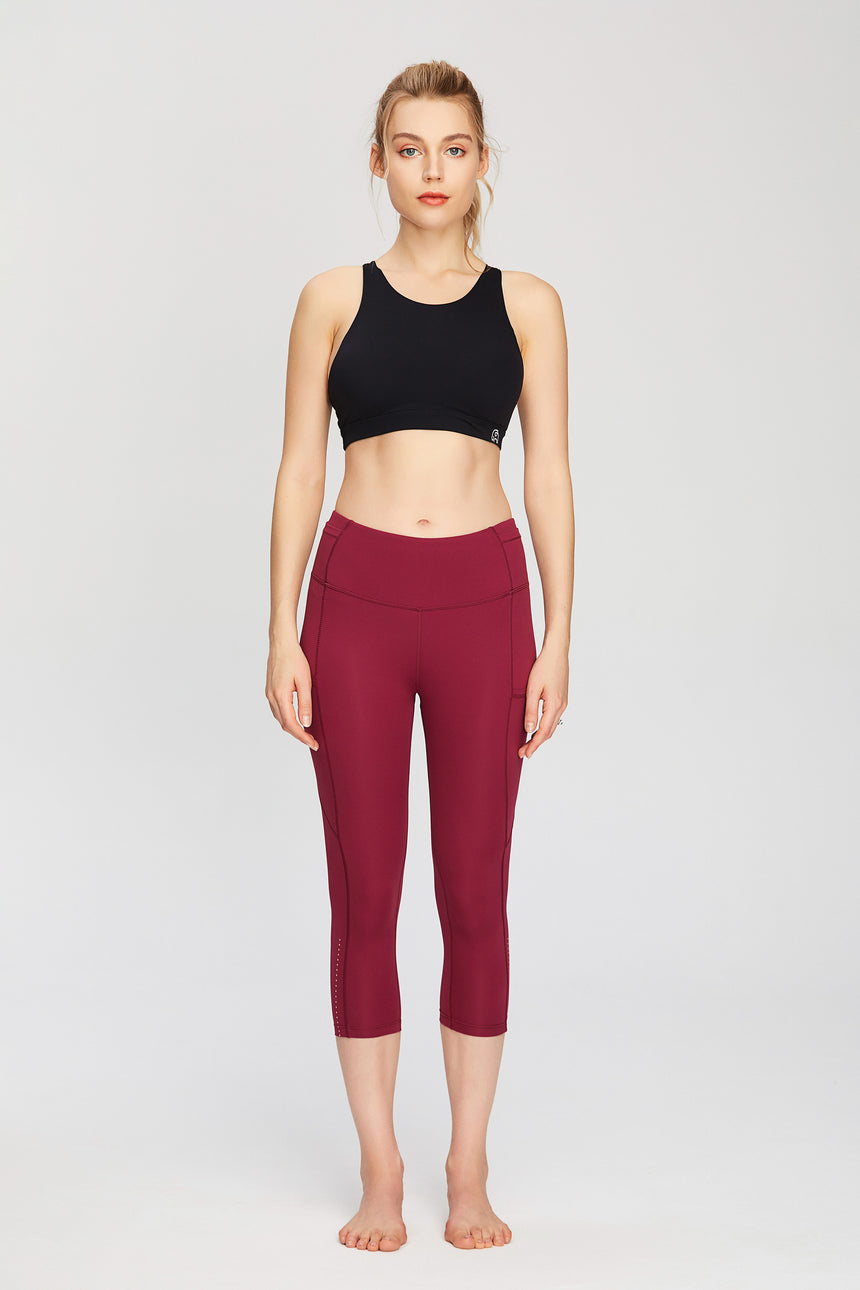 Capri Length Squat-Proof Workout Leggings - Zen Zen Studio NYC