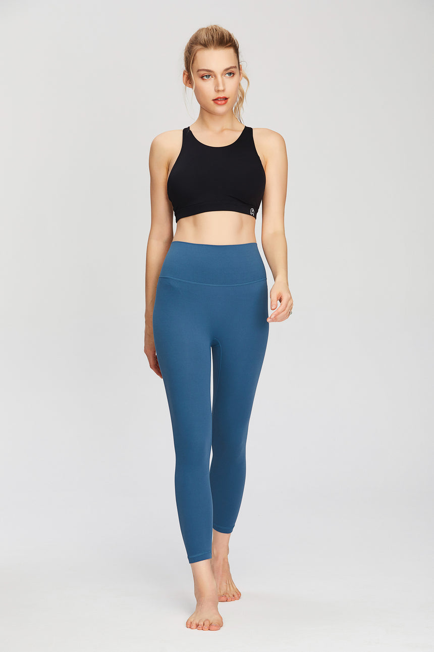 3/4-length Curve-Emphasizing Yoga Leggings - Zen Zen Studio NYC