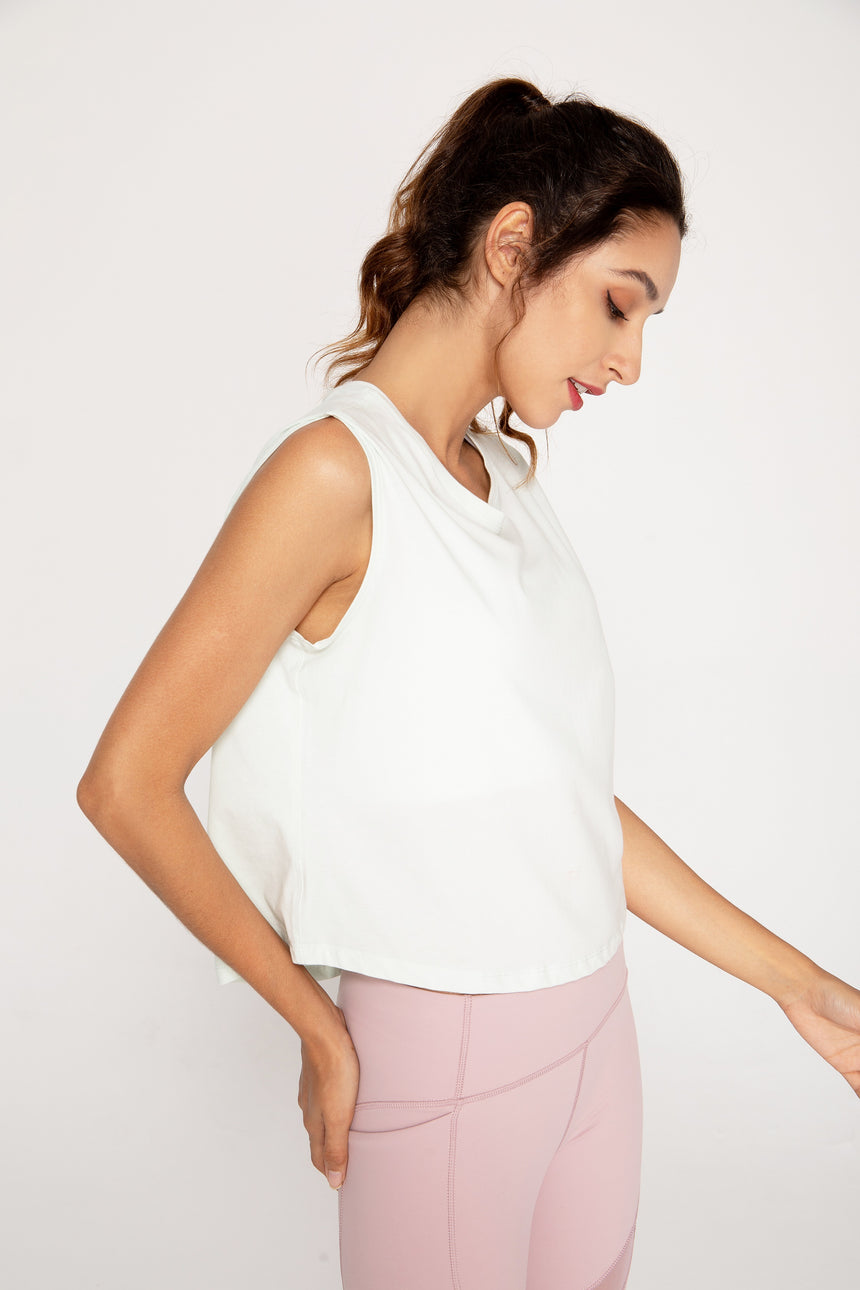 Pale Mint Boxy Athleisure Tank Top - Zen Zen Studio NYC