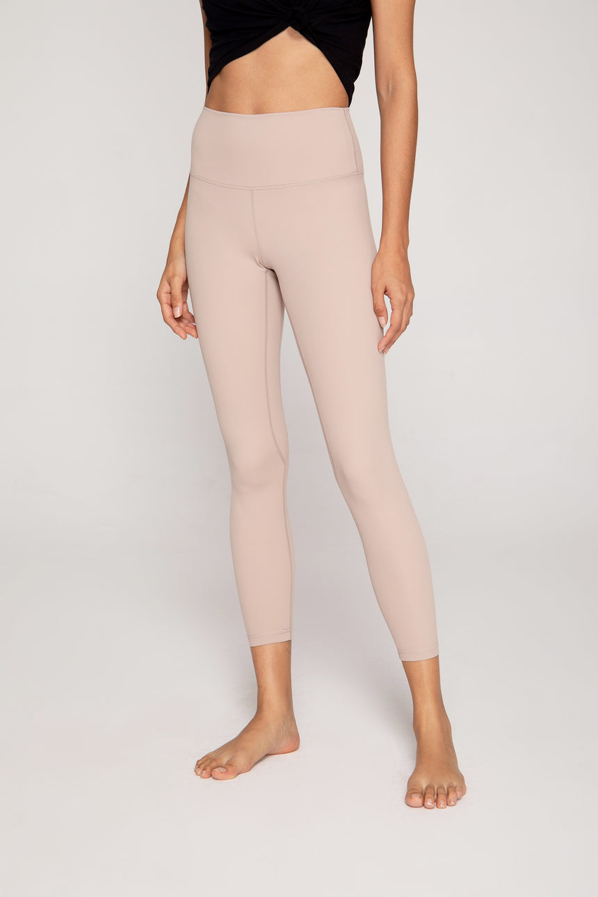 Streamlined High Waisted Workout Leggings in Beige - Zen Zen Studio NYC