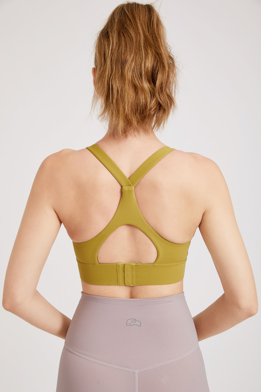 Supportive Sports Bra with Exposed Racerback Design - Zen Zen Studio NYC