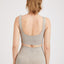 Khaki Ribbed Knit Seamless Sports Bra - Zen Zen Studio NYC