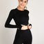 Essential Long-Sleeved Cropped Active Top Black - Zen Zen Studio NYC