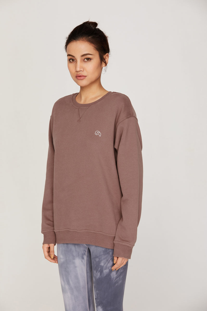 Slouchy Everyday Crew Fleece - Zen Zen Studio NYC