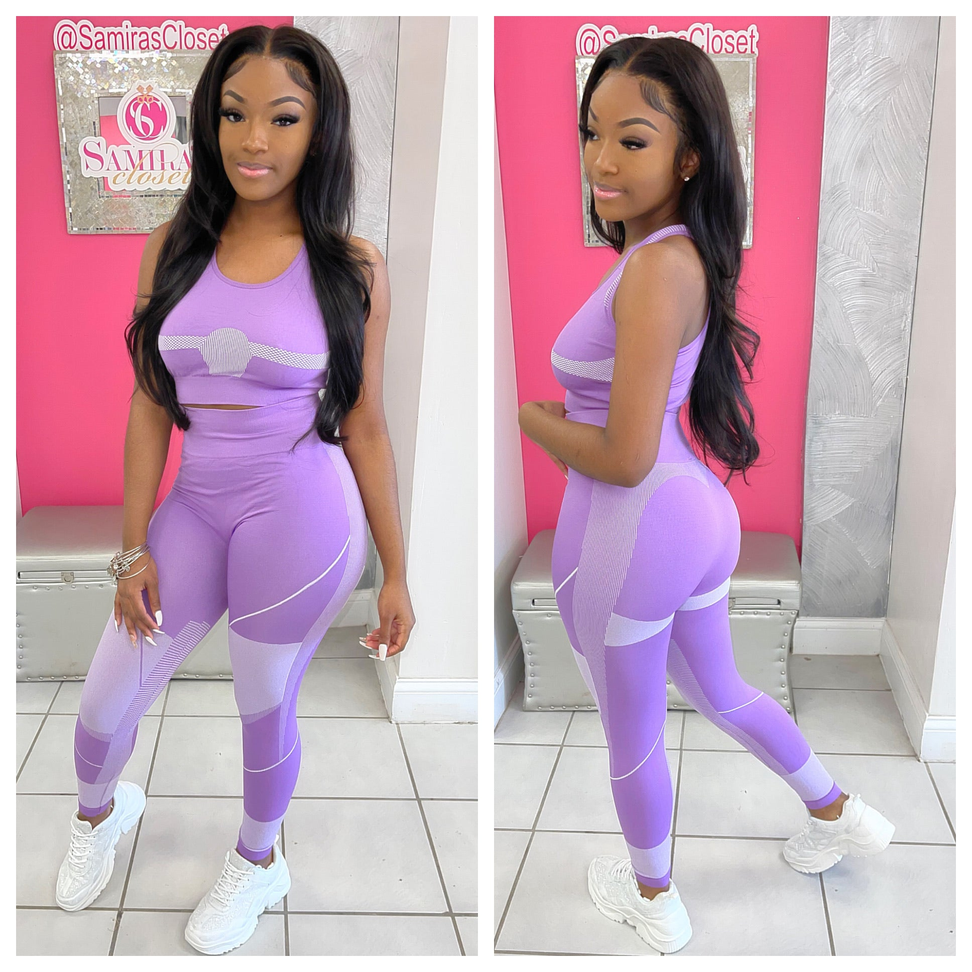 Flex Racerback Top 2 Pc Set-Violet