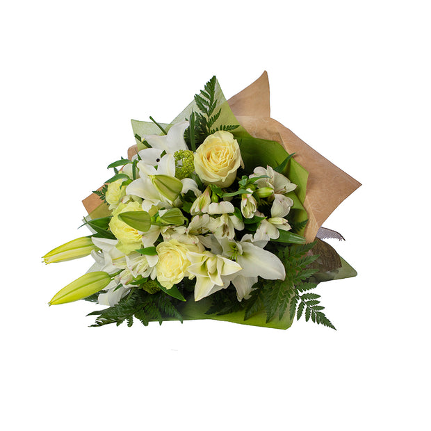 Classic White Bouquet from Mayflower Studio Florist in Marlborough, NZ