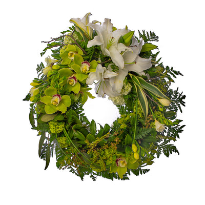 Serenity Wreath from Mayflower Studio Florist in Marlborough, NZ